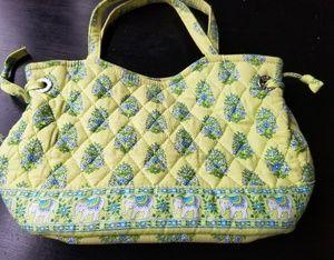 Vera Bradley Retired Citrus Elephant Print Handbag